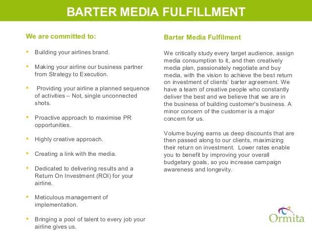 sample barter agreement