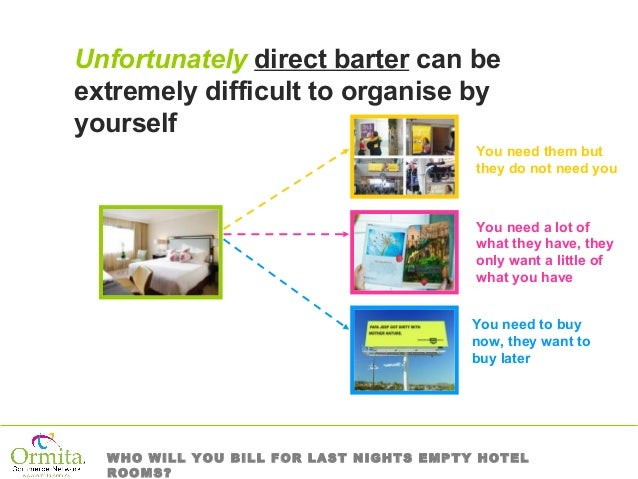 Hotel Supplies on 100% Barter