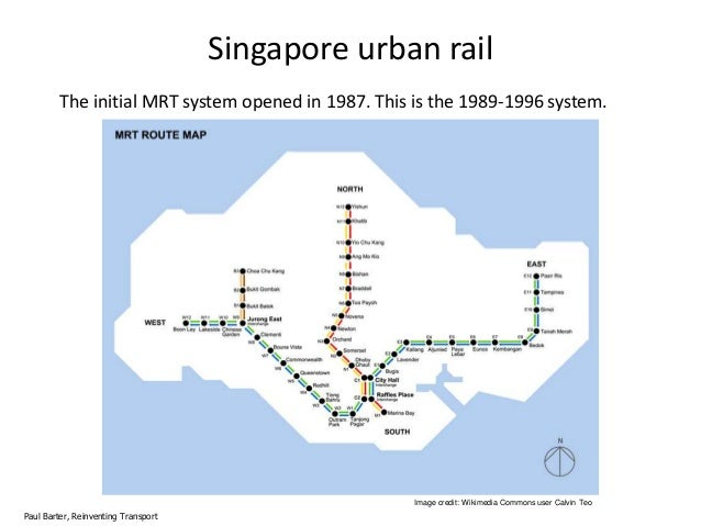 Public Transport Policy In Singapore A Long View - Singapore map 1990