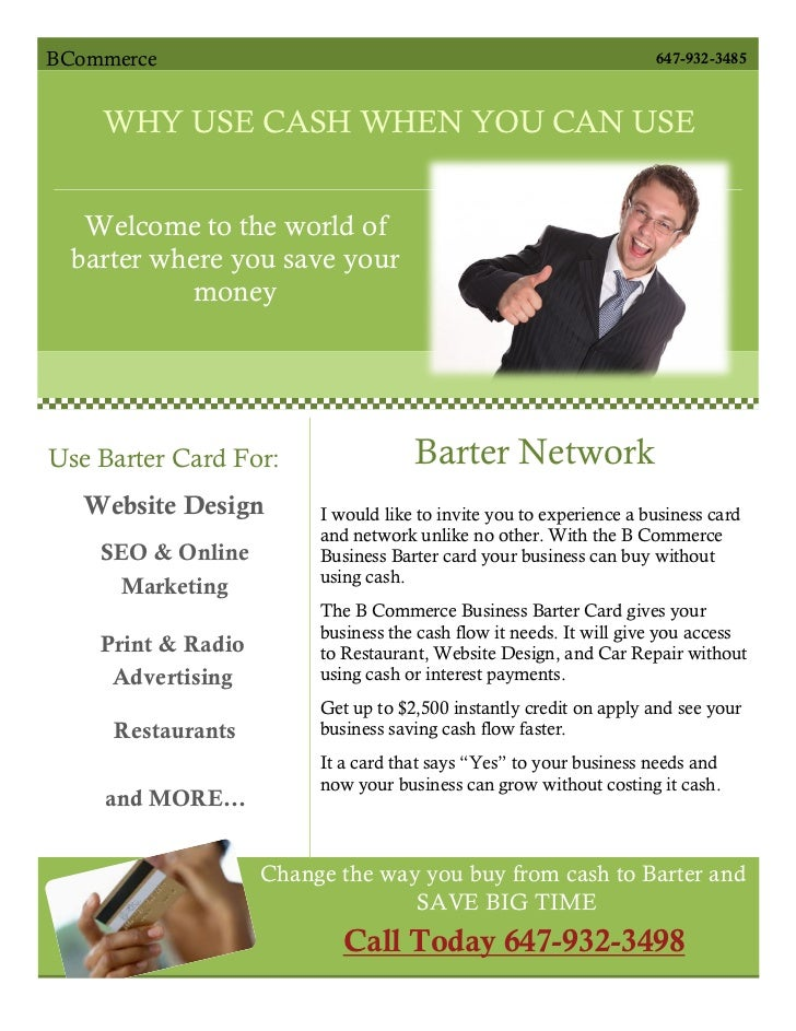 BCommerce                                                            647-932-3485    WHY USE CASH WHEN YOU CAN USE        ...