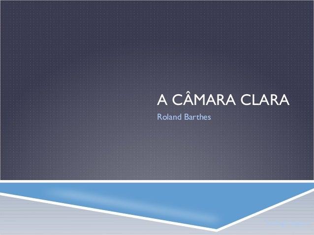 A CÂMARA CLARA Roland Barthes  Rodrigo Volponi