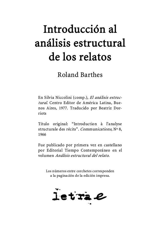 Barthes roland introduccion al analisis estructural de los relatos