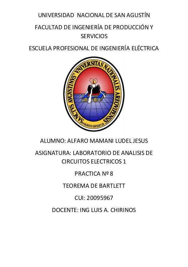 UNIVERSIDAD NACIONAL DE SAN AGUSTÍN FACULTAD DE INGENIERÍA DE PRODUCCIÓN Y SERVICIOS ESCUELA PROFESIONAL DE INGENIERÍA ELÉ...
