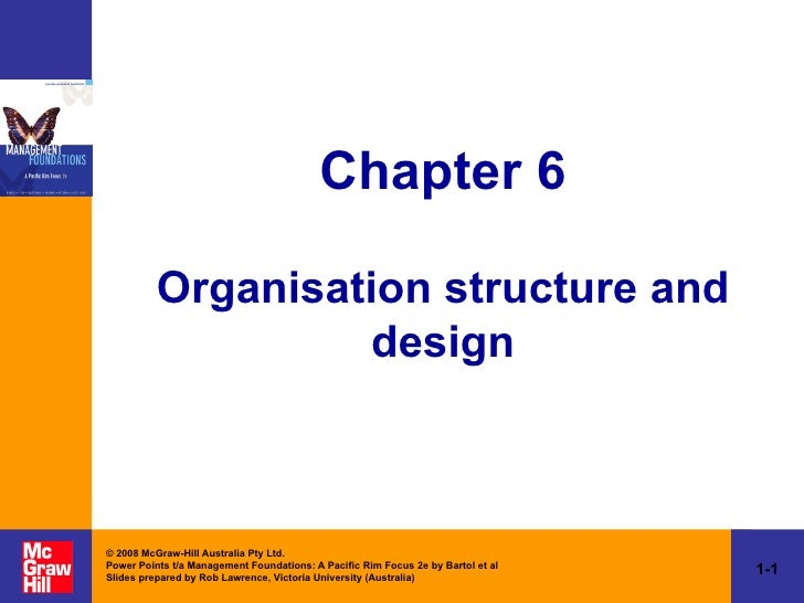 Chapter 6 Organisation structure and design