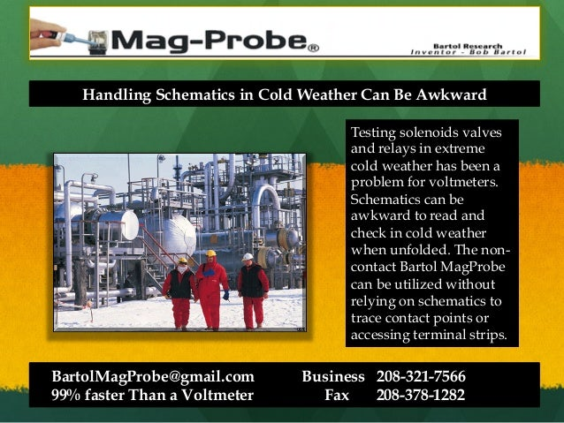 Handling Schematics in Cold Weather Can Be Awkward Testing solenoids valves and relays in extreme cold weather has been a ...