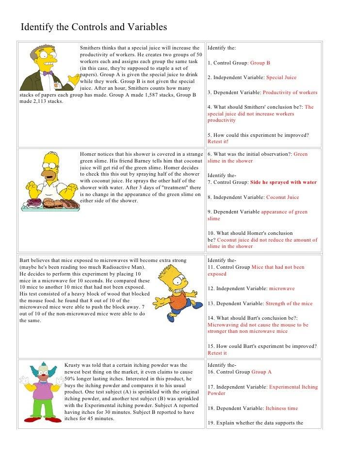 Identifying Variables Worksheet. Worksheets. Releaseboard ...