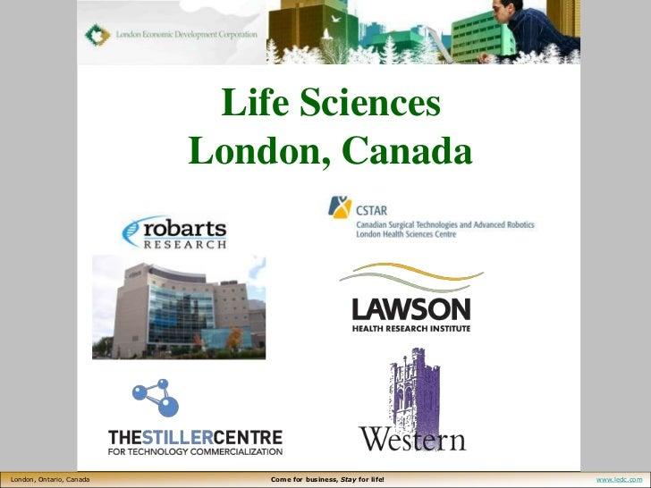 Life Sciences London, Canada<br />