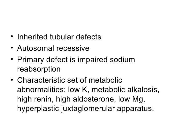 Bartter'S And Gittleman'S Syndromes Slide 2