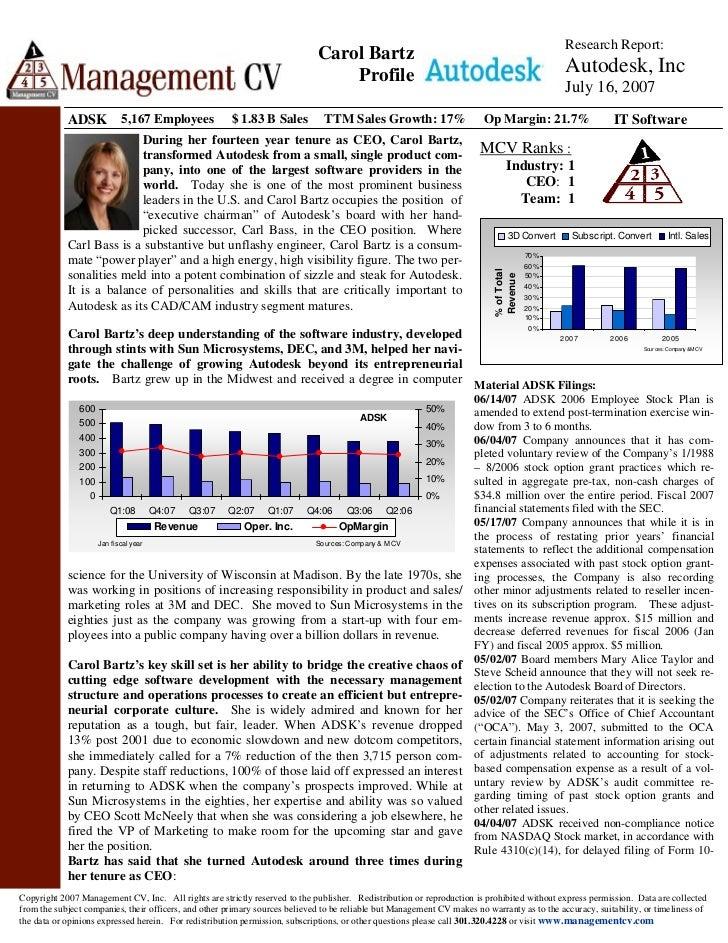 Research Report:                                                                              Carol Bartz                 ...