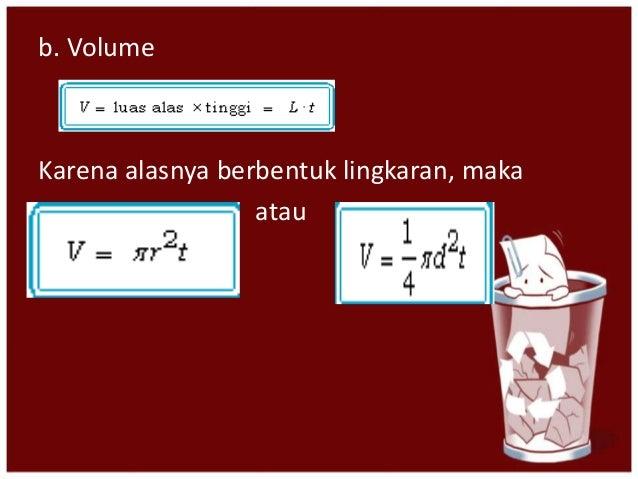 volume dan luas permukaan bangun ruang