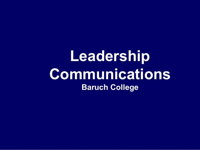 Leadership Communications Baruch College
