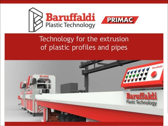 Technology for the extrusion of plastic profiles and pipes