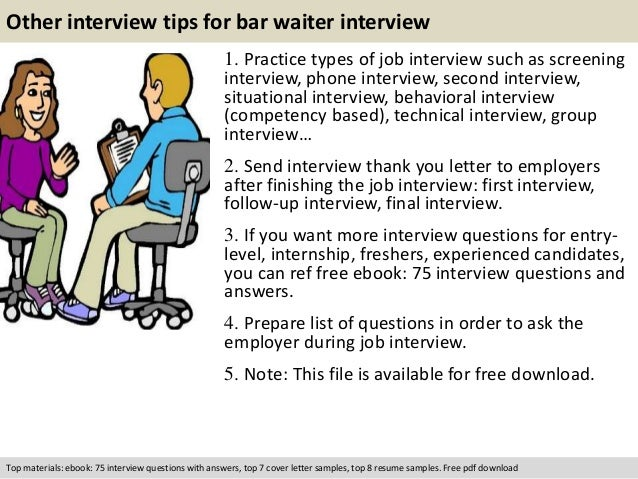 Bar Waiter Interview Questions