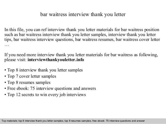 Cover Letter Waitress Baileybreadus. Cover Letter For Waitress Job
