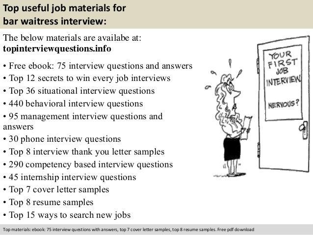 Free Pdf Download 10 Top Useful Job Materials For Bar Waitress