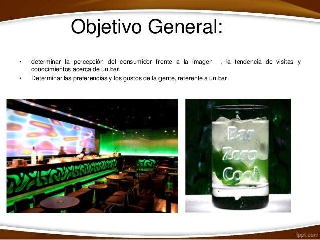 Bar zero cool encuesta clientes for Objetivo general de un vivero