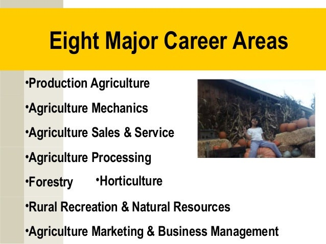 agriculture careers