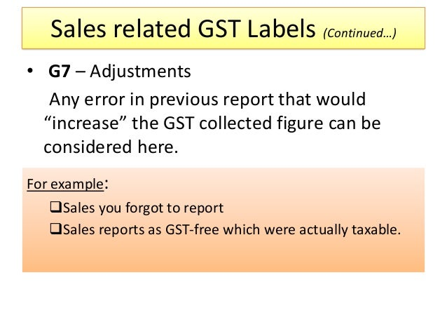 BAS Business Activity Statement Presentation