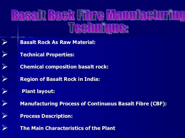 Basalt Rock Fibre Brf Pdf