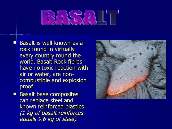 Description Of Basalt : Basalt rock fibre