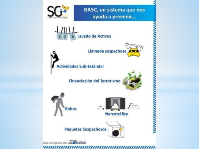 BASC,  un sistema que nos  Eme-sa ou tïmihón Integral  Je [lll I.   ¡es ls Lavado de Activos  7 y Llamada sospechosa  Acti...