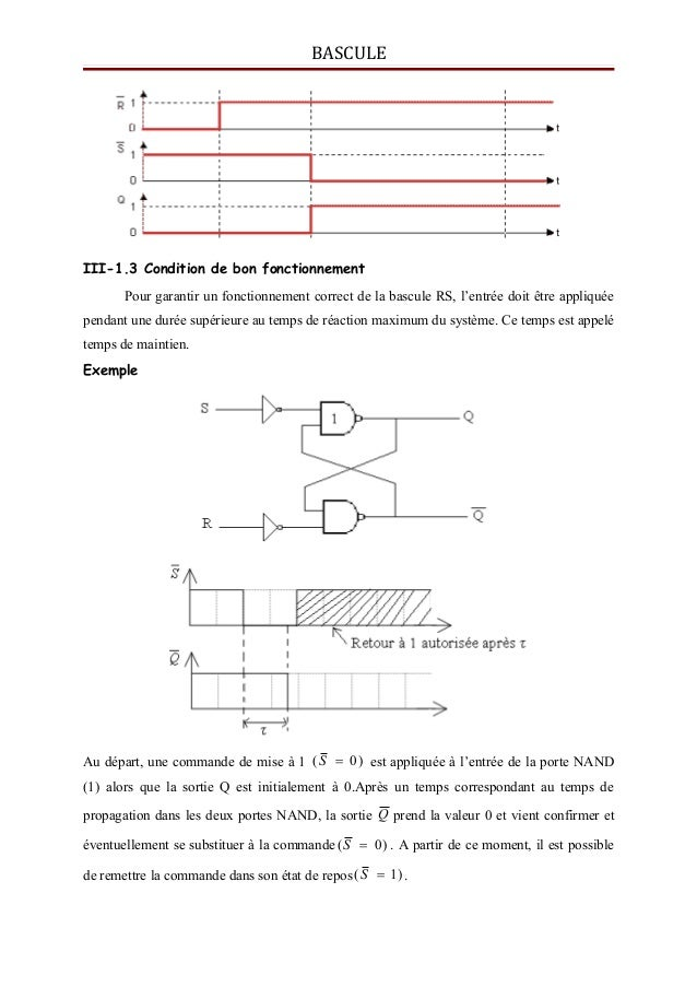 Bascules for Bascule rs nand