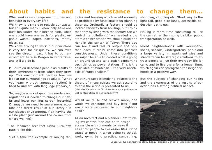About            habits            and          the           resistance                    to        change              ...