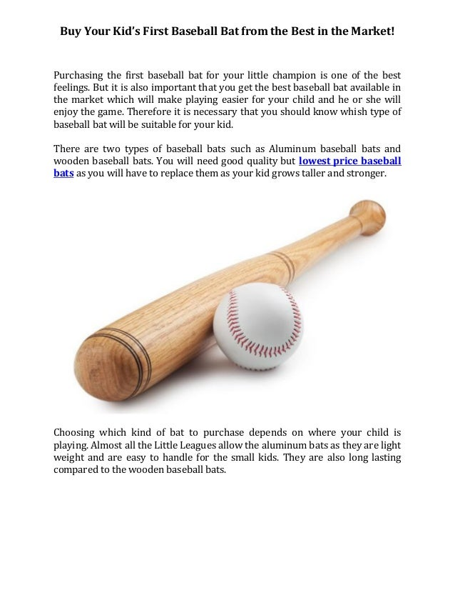 Baseball Bat From The Best In The Market