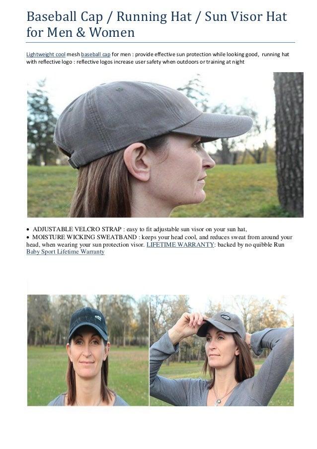 675bf7fe893 Baseball Cap   Running Hat   Sun Visor Hat for Men   Women - with Reflective  Logo