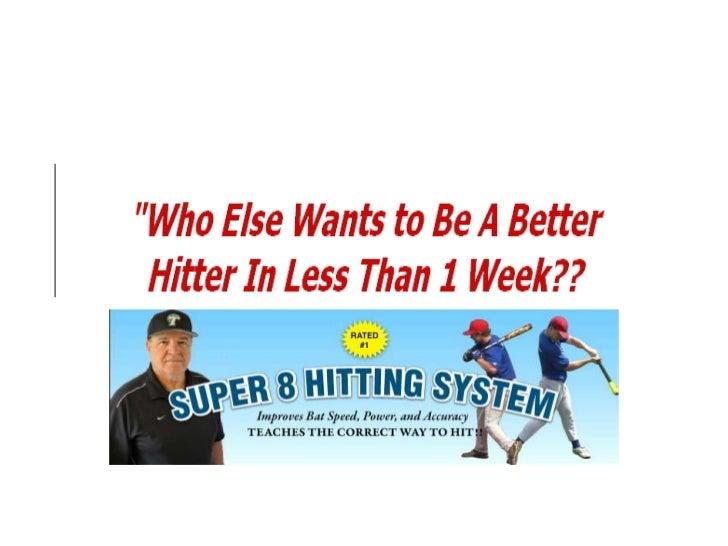 Baseball hitting techniques