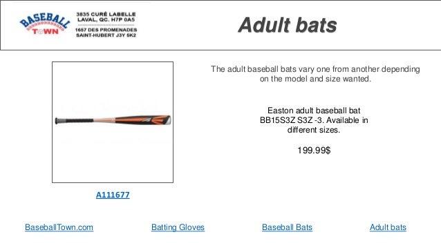 Baseball town - adult bats Slide 3