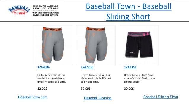 BaseballTown.com Baseball Clothing Baseball Sliding Short 1242084 Under Armour Break Thru youth slider. Available in diffe...