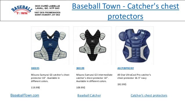 Baseball Town - Catcher's chest protectors BaseballTown.com Baseball Catcher Catcher's chest protectors 380195 Mizuno Samu...