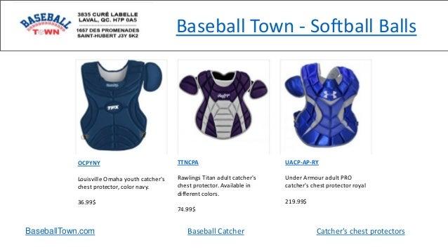 Baseball Town - Softball Balls BaseballTown.com Baseball Catcher Catcher's chest protectors OCPYNY Louisville Omaha youth ...