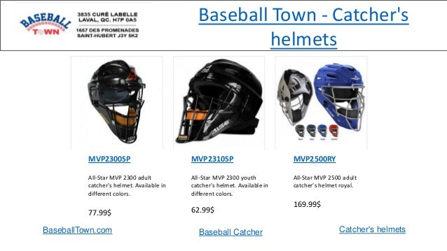 MVP2300SP All-Star MVP 2300 adult catcher's helmet. Available in different colors. 77.99$ MVP2310SP All-Star MVP 2300 yout...