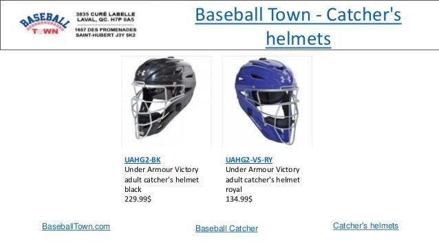 Baseball Town - Catcher's helmets UAHG2-BK Under Armour Victory adult catcher's helmet black 229.99$ UAHG2-VS-RY Under Arm...