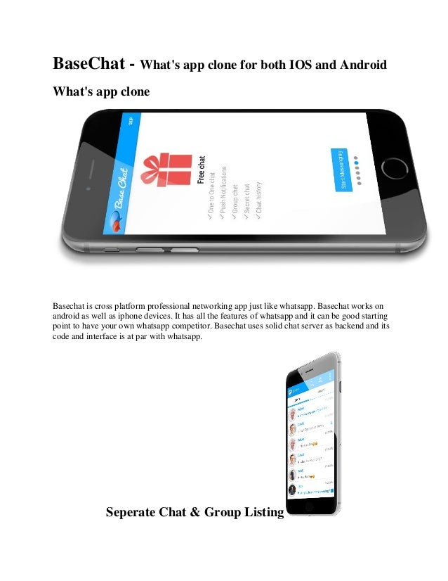 BaseChat - What's app clone for both IOS and Android