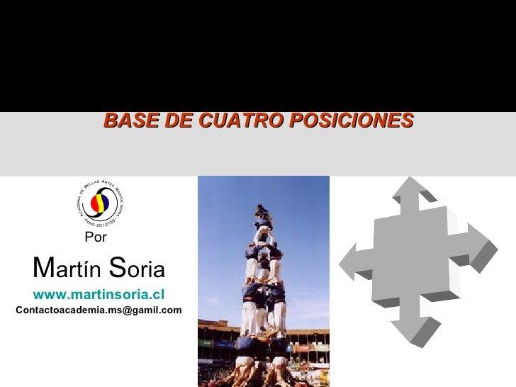BASE DE CUATRO POSICIONES                Por    Martín Soria    www.martinsoria.cl Contactoacademia.ms@gamil.com