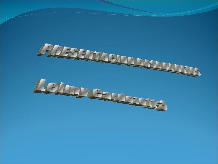 PRESENTACION BASE DE DATOS Leimy Cardozo11-3