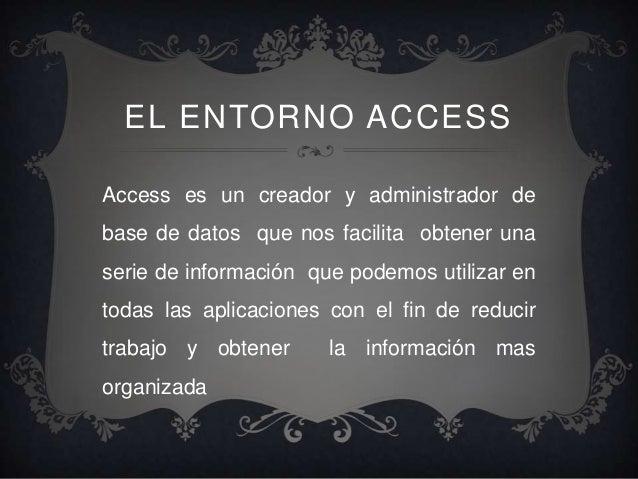 BASE DE DATOS CON ACCES Slide 2