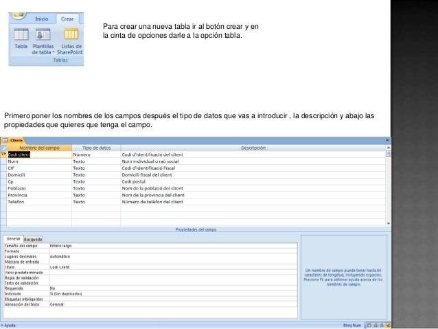 Base de datos en acces Slide 3