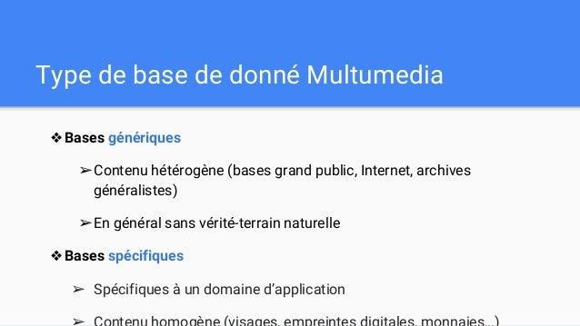 Base de données multimédia Slide 3