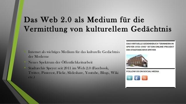 """Gedächtnis und Erinnerung im """"Web 2.0"""" Slide 3"""