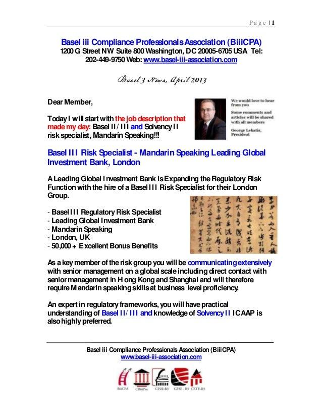 P a g e | 1Basel iii Compliance ProfessionalsAssociation (BiiiCPA)1200G Street NW Suite 800Washington, DC 20005-6705USA Te...