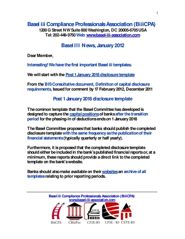 1Basel iii ComplianceProfessionalsAssociation (BiiiCPA)1200G Street NW Suite800Washington, DC 20005-6705USATel: 202-449-97...
