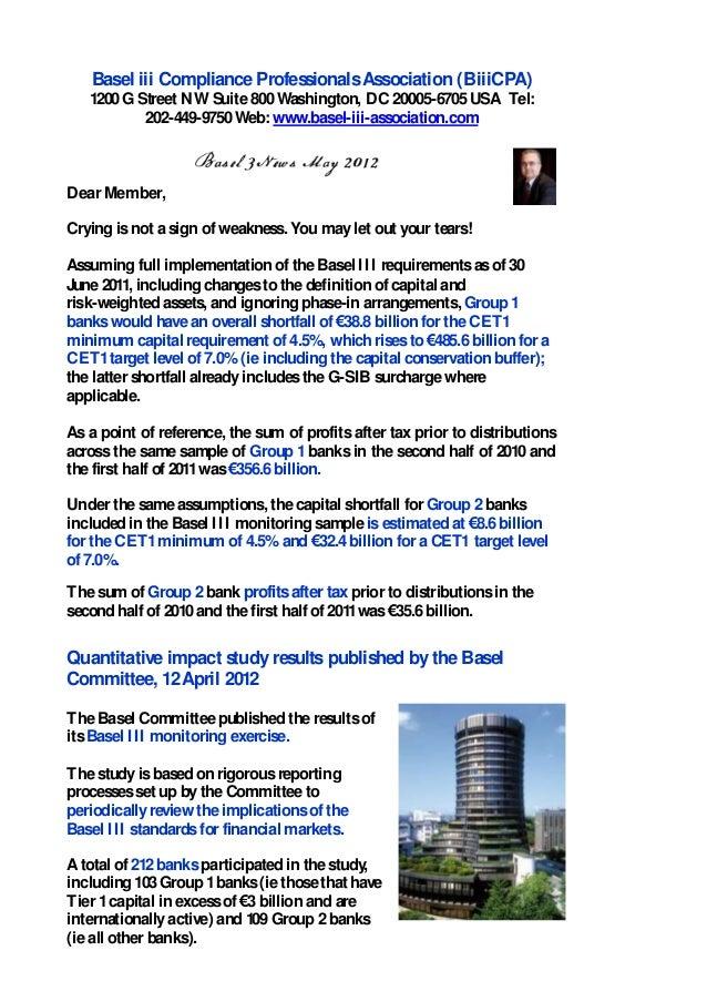 Basel iii Compliance ProfessionalsAssociation (BiiiCPA)1200G Street NW Suite800Washington, DC 20005-6705USA Tel:202-449-97...