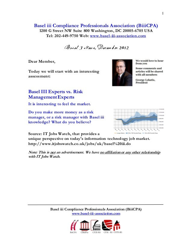 1   Basel iii Compliance Professionals Association (BiiiCPA)       1200 G Street NW Suite 800 Washington, DC 20005-6705 US...