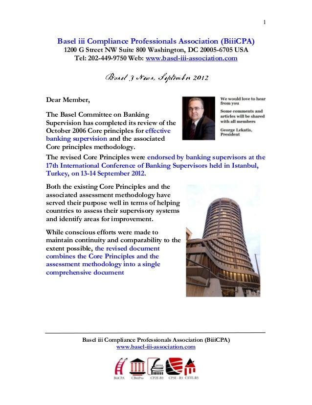 1   Basel iii Compliance Professionals Association (BiiiCPA)      1200 G Street NW Suite 800 Washington, DC 20005-6705 USA...