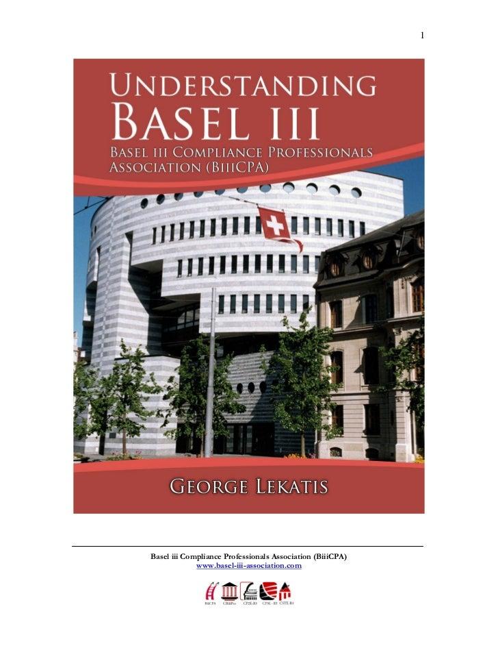1Basel iii Compliance Professionals Association (BiiiCPA)             www.basel-iii-association.com