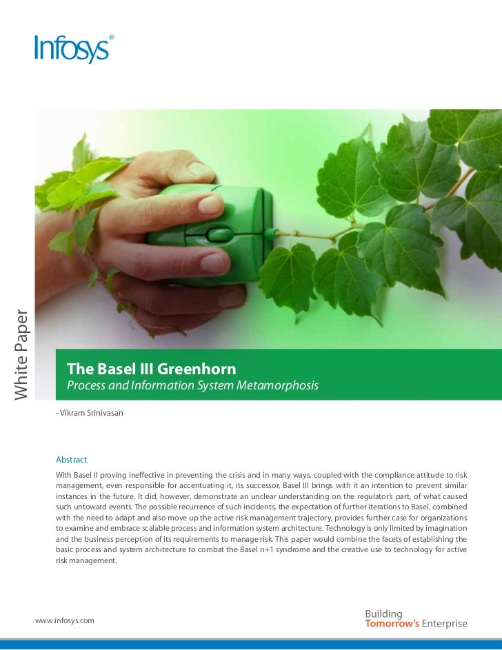 White Paper                      The Basel III Greenhorn                      Process and Information System Metamorphosis...